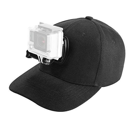 Neewer Baseball Hat Cap with Sports Action Camera Mounts, Compatible with HERO 6/5 Black/5 Session/4 Session/4/3+/3/2/1 and Other Action Cameras by Neewer