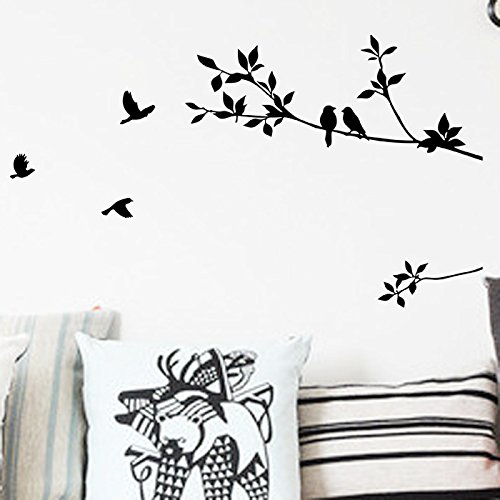 Wall Stickersforeign Trade Wall Stickers, Tree Branches, Bird Bedroom Background Wall, Foreign Trade Custom Wholesale ()