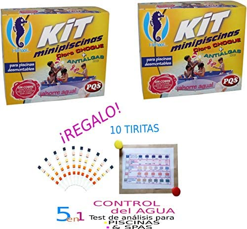 Kit MINIPISCINAS (Cloro+ANTIALGAS) Pack DE 2 Unidades: Amazon.es ...