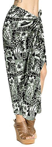 LA LEELA Swimsuit Beachwear Wrap Sarong Dress Cover ups Pareo Wrap Swimwear Skirt Women Bathing by LA LEELA