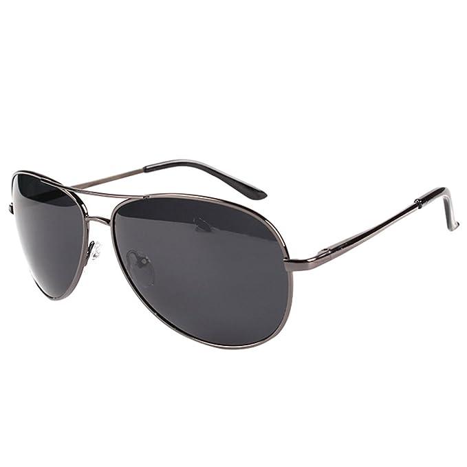 LINNUO Gafas de Sol Hombre Mujer Aviador Polarizadas Drive ...