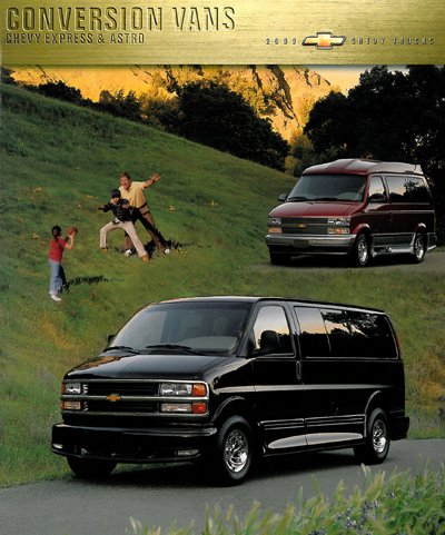 2000 Chevrolet Astro And Express Conversion Van Chevy Truck Sales Brochure