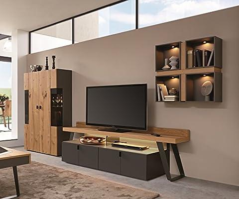 Mueble de vigas de madera de roble para miel de madera chapada ...