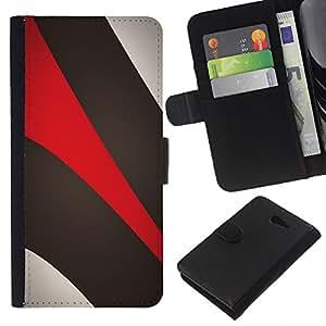 Planetar® Modelo colorido cuero carpeta tirón caso cubierta piel Holster Funda protección Para Sony Xperia M2 / M2 dual ( Khaki Beige Red )