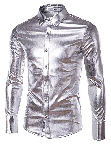 jogal-mens-trend-nightclub-styles-metallic-silver-button-down-shirts-xxx-large-silver