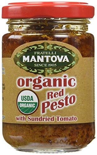 Mantova Organic Red Pesto with Sundried Tomato, 4.6 Ounce (Organic Pesto)