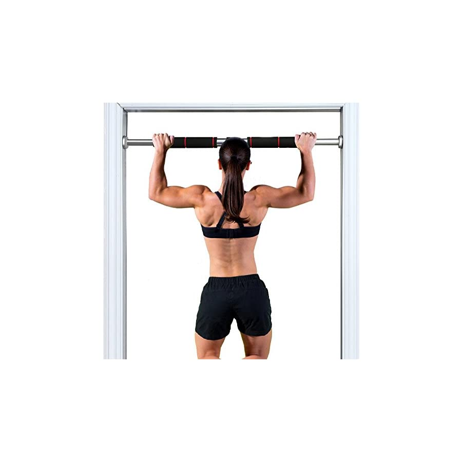 ( US Stock ) Doorway Chin ups Push ups Pull up Sit ups Heavy Duty Fitness Exercise Bar with Comfort Grips for Home Gym