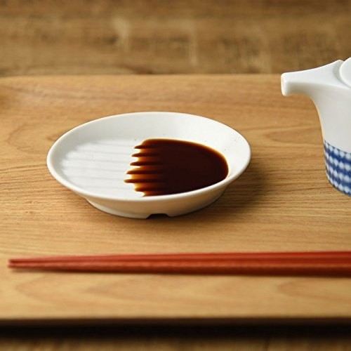Pottery Sauce (Yamani Pottery Miyama Minoyaki Diagonal bottom Soy sauce small plate from Japan)
