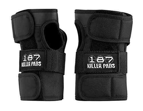 Pro Wrist Roller - 187 Pro Wrist Guards Black Small