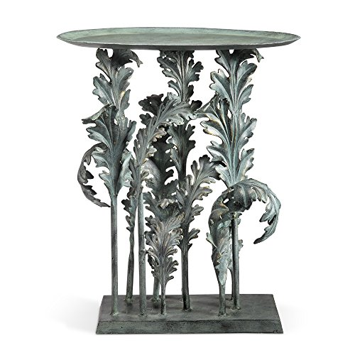 Collection Acanthus Leaves Accent Table (Verdigris Finish) ()