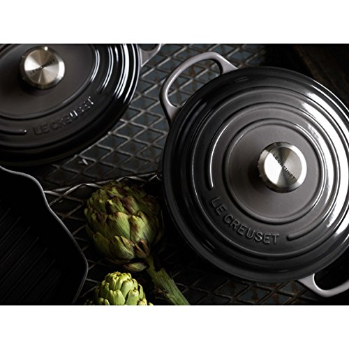 Le Creuset Signature Enameled Cast-Iron 5-1/2-Quart Round French (Dutch) Oven, Oyster by Le Creuset (Image #3)