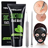 #5: Peel Off Mask, Charcoal peel off mask, Black Mask with Tools Effective Remove black/white Head and Dead Skin, Suction Black Mask Nose Strip For Face Nose Acne Treatment Oil Control (60ml)