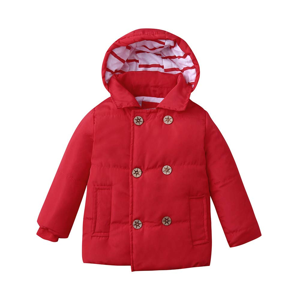 GorNorriss Baby Girl Coat Winter Kid Hooded Jacket Children Warm Thick Outerwear Clothes