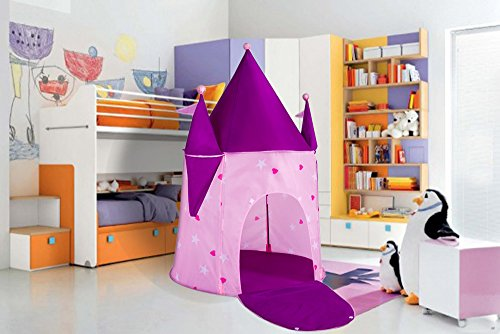 Kids Tents Princess Crystal Castle, Pop Up Tent Play Tents Indoor Outdoor Tent Great Game & Toy Gift For Children Fun By Alvantor