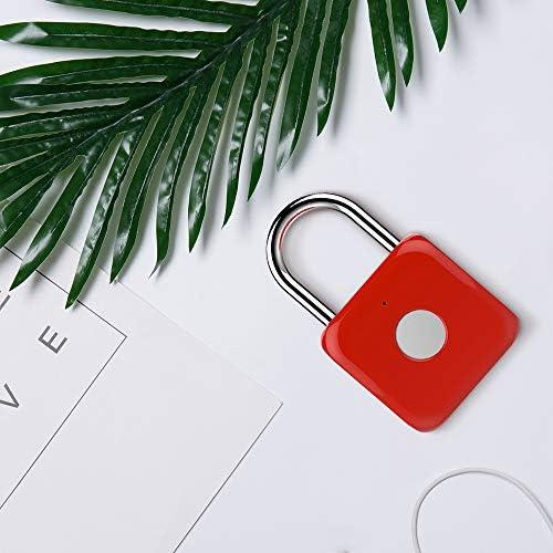 casier de gym Cadenas dempreinte Digitale Rouge Sac /à dos V/élo eLinkSmart Mini Serrure de S/écurit/é Rechargeable avec USB C/âble Verrouillage Antivol Adapt/é /à la Porte de la Maison Valises