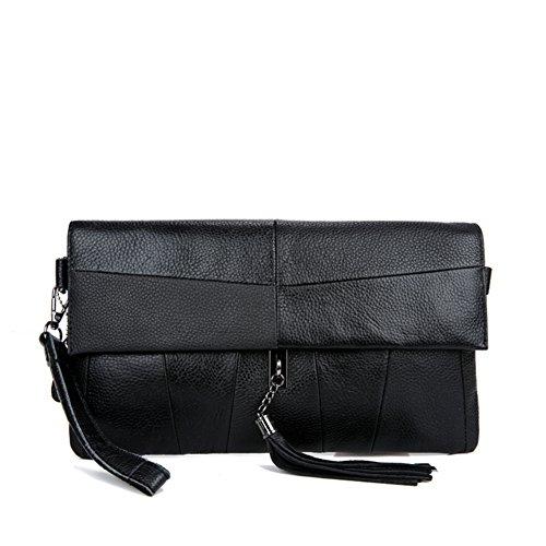 en capacité haute à Sacs les main à femme Sacs bandoulière bandoulière noir de Sac à poignée noir Gland filles haut couture sacs pour wzwT7