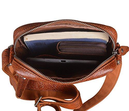 Genda 2Archer Bolso de Mensajero Vertical del Estilo del Marrón Bolsa Pequeña del Tacolla del Negocio Para los Hombres o las Mujeres (20cm* 6cm * 25cm)