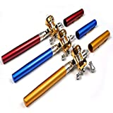 Telescopic Mini Fishing Rod Pen Shape Portable Pocket Aluminum Alloy Fishing Fish Spinning Rod Pole With Reel -