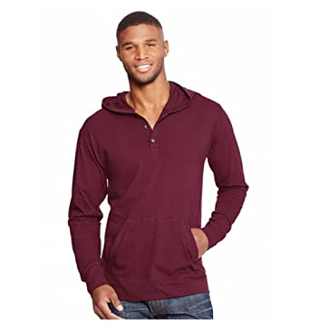 Amazon.com: Hanes Men's Comfortblend Long Sleeve 3-Button Henley ...