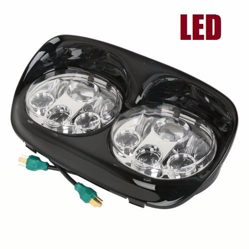 5.75'' LED Headlight harley davidson Projector Light Lamp For Harley Road Glide 98-13 by HAPPY-MOTOR
