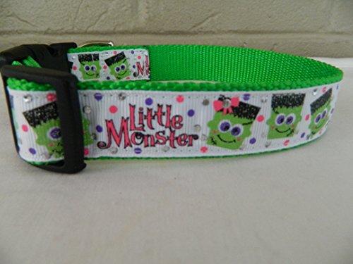 Schmoopsie Couture Halloween Little Monster Dog Collar (Medium (11
