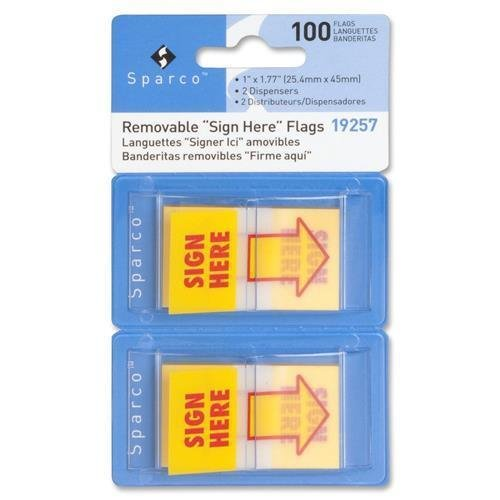 Sparco 19257 Printed Flag - Self-adhesive, Removable - 1