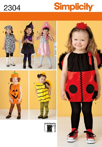 (Simplicity Sewing Pattern 2304 Toddlers' Costumes, A)