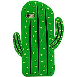 MC Fashion 3D Japanese Cartoon Rinkadoll Super Cute Soft Silicone Case Cover for Apple iPhone 6/6S - Cactus