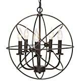 Kitchen Lighting Chandelier Best Choice Products Industrial Vintage Lighting Ceiling Chandelier 5 Lights Metal Hanging Fixture