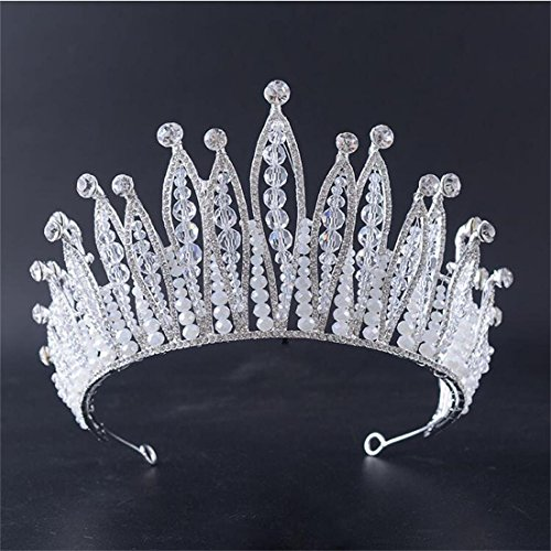 FUMUD Luxurious Crystal Rhinestone Tiara Bride Hairband Handmade Hairwear Headpiece Wedding Accessori