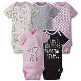 GERBER Baby Girls 5-Pack Variety Onesies