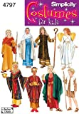 Simplicity 4797 Boys' and Girls' Nativity Costumes Sewing Pattern - Size A (S-M-L)