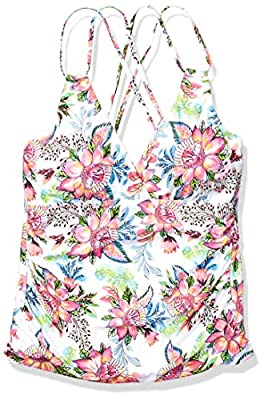 La Blanca Women's Underwire Cross Back Tankini Swimsuit Top