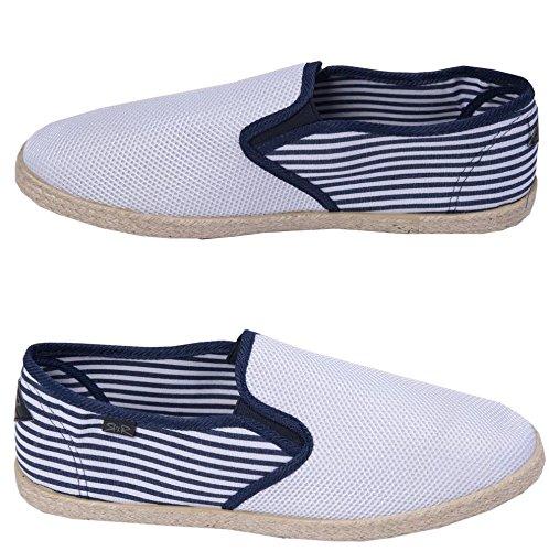 Rock & Religion para Hombre Espadrilles Plimsolls Lienzo Zapatos Bombas Zapatillas Tamaño 7–11, Color Blanco, Talla 42.5