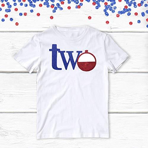 1 pc two bobber 100% COTTON short sleeve t-shirt for second birthday toddler boy gone fishing birthday theme