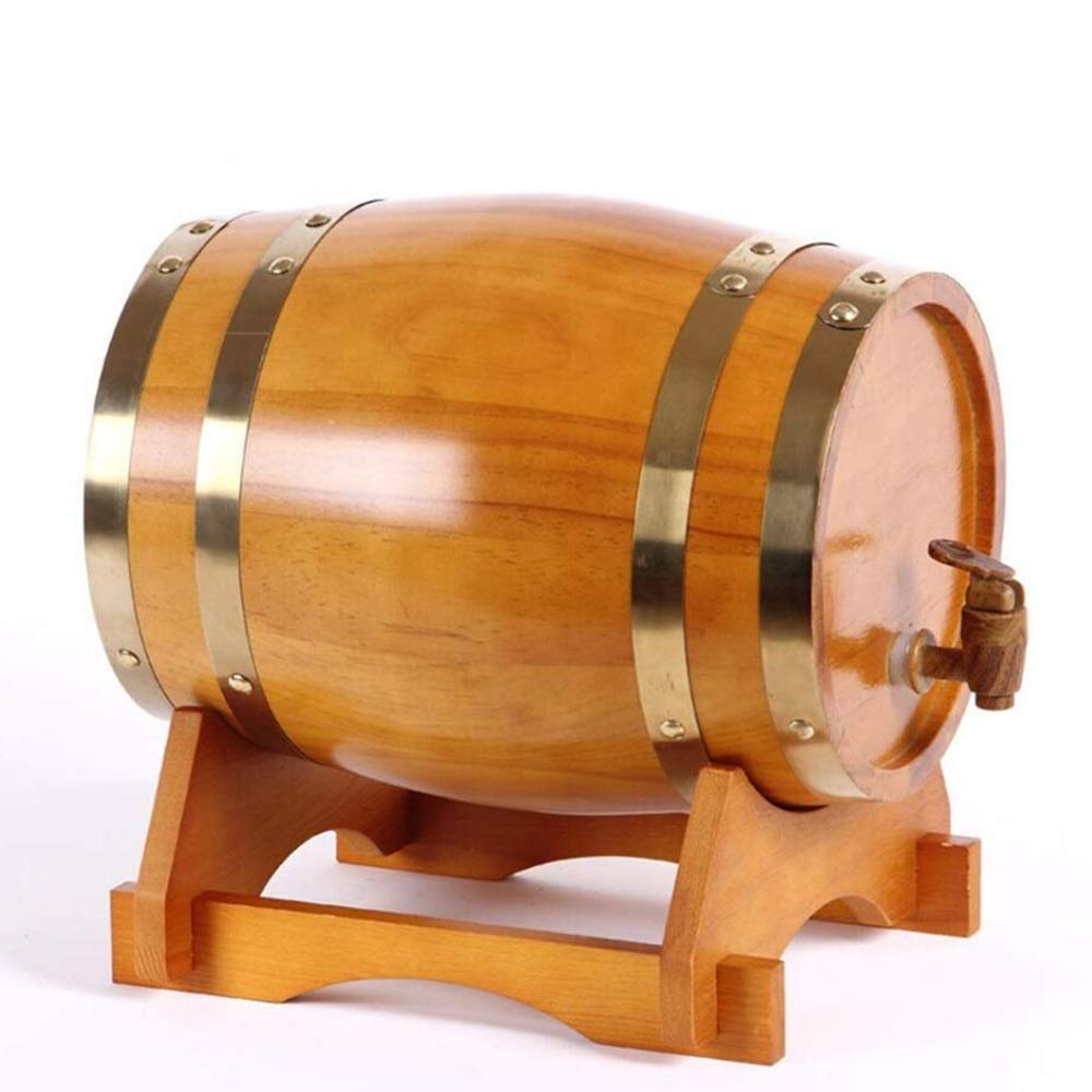 LHome American Oak Aging Barrel Age Your Own Tequila, Whiskey, Rum, Bourbon, Wine 1.32 Gallons Hotel Family Wine Barrel 3L/5L/10L/20L (Color : Style E, Size : 10L)