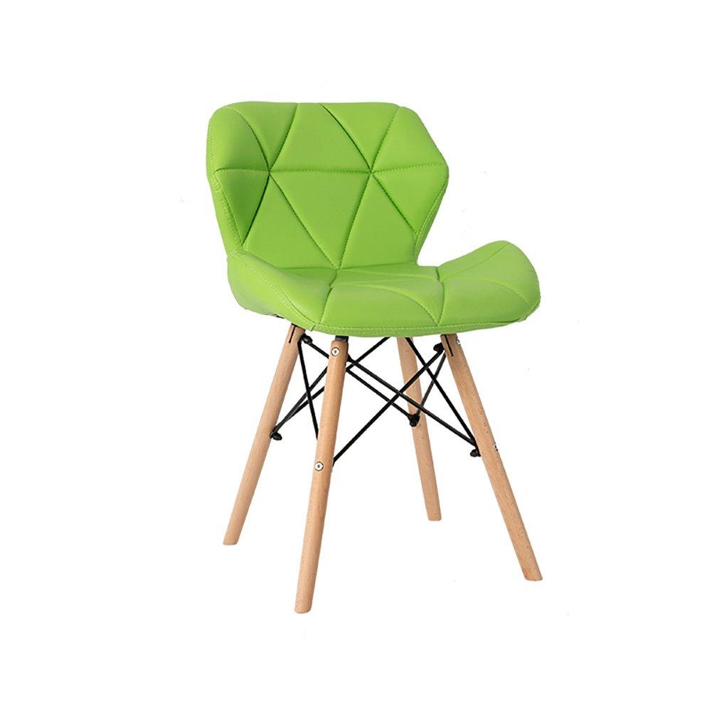 ソリッドウッドダイニングチェア背もたれレジャーオフィスミーティングリビングルーム背もたれチェア (色 : Green, サイズ さいず : Set of 4) B07FBTBXXP Set of 4 Green Green Set of 4
