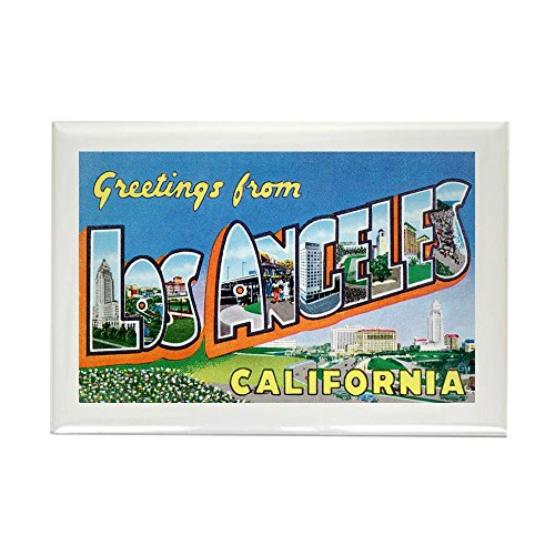 CafePress - Los Angeles California Greetings Rectangle Magnet - Rectangle Magnet, 2