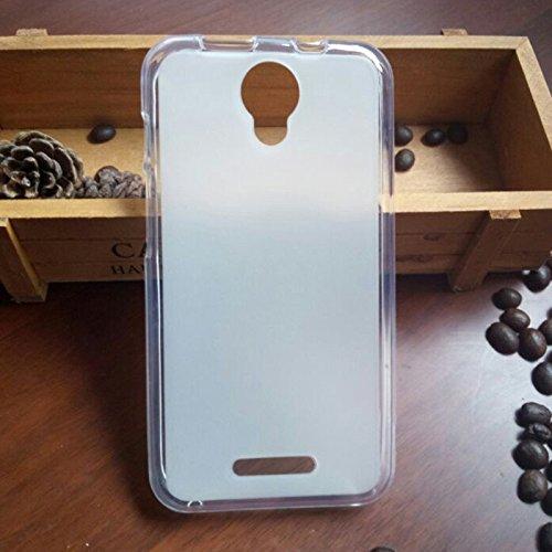 Cubierta de la caja mate TPU para Alcatel One Touch Pixi 4 5.0 5010D funda de silicona 5 protectora suave bolsa de teléfono Blanco