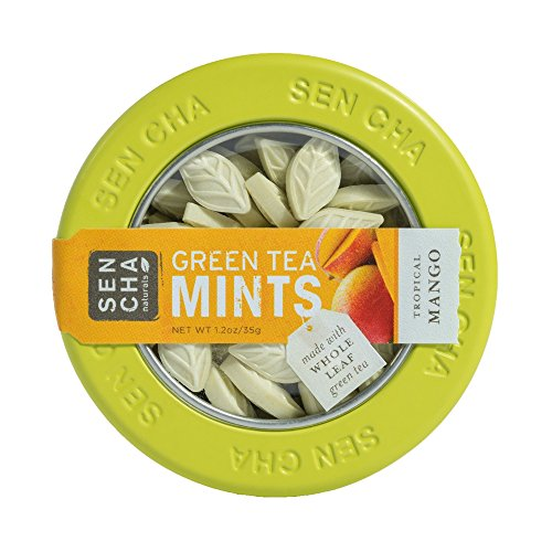 Sencha Naturals Green Tea Mints, Tropical Mango,