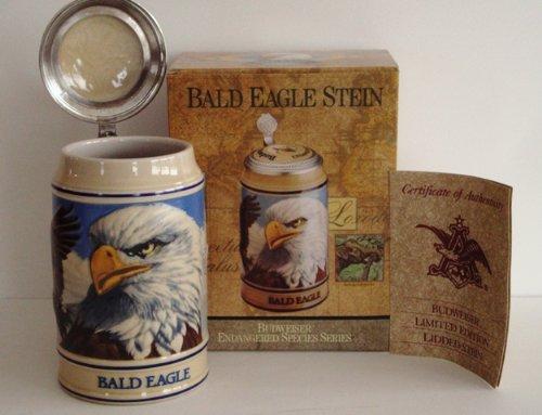 1989 Budweiser Endangered Species Series, Lidded Beer Stein, Bald Eagle by Anheuser-Busch