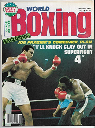 - November 1977 Issue Of World Boxing Magazine With Ali And Frazier On The Cover