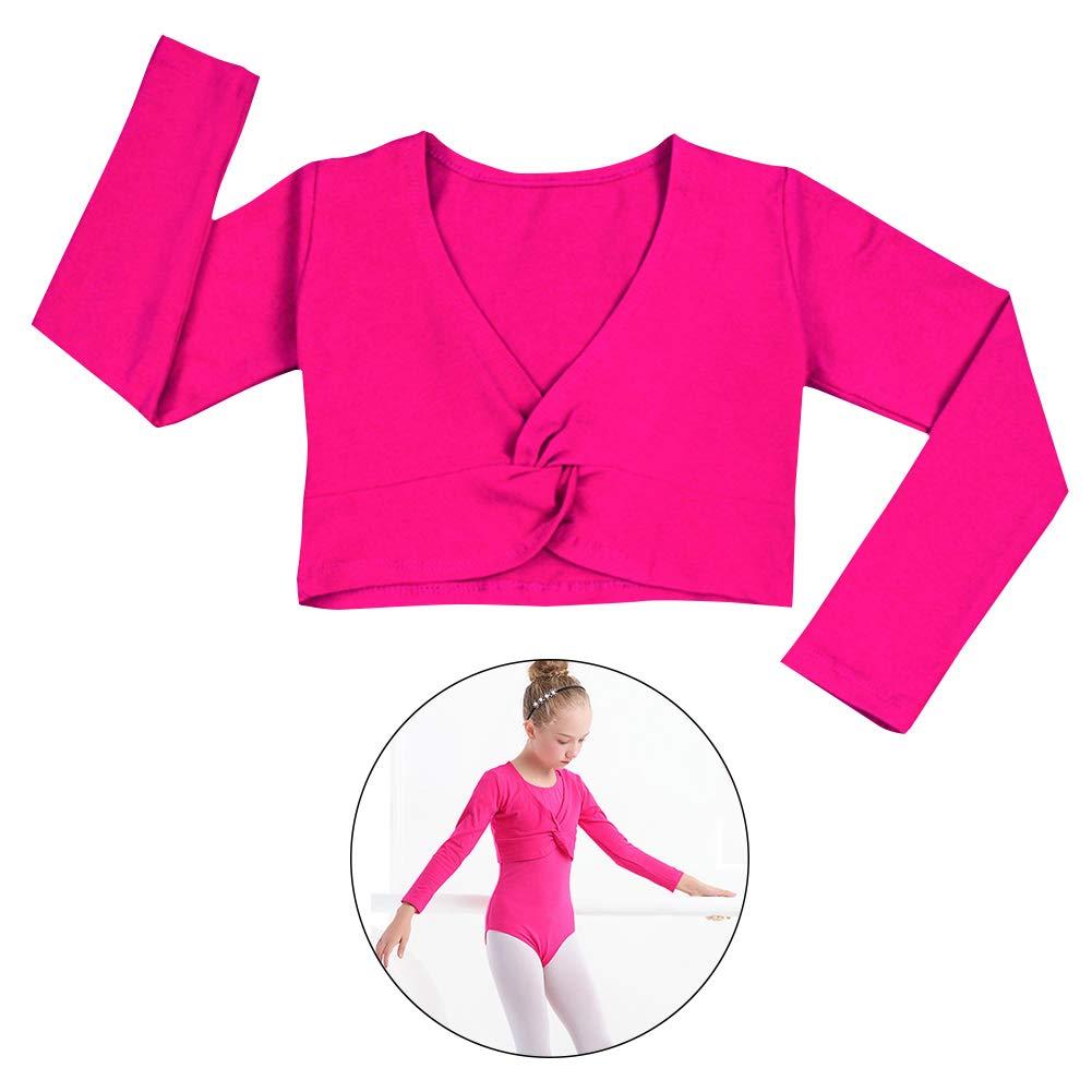 Happy Cherry Children Girls Twist Knot Wrap Dance Ballet Cardigans Sweater