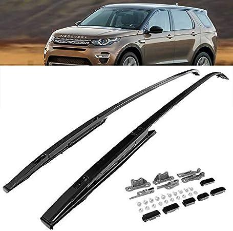 LR Discovery Sport 15-17 Barras de techo negras para equipaje, portaequipajes, barras transversales para SUV: Amazon.es: Coche y moto