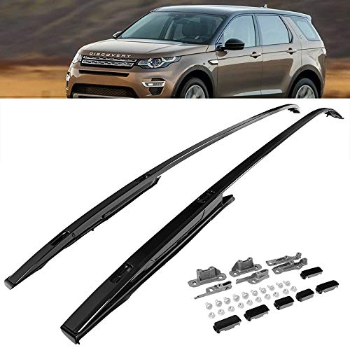 - LR Discovery Sport 15-17 Black Roof Rails Luggage Cargo Rack SUV Top Cross Bars