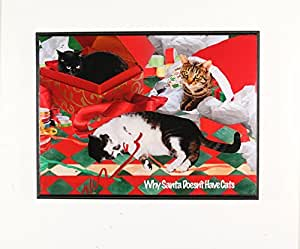 Why santa doesn 39 t have cats christmas wall art for Christmas wall art amazon