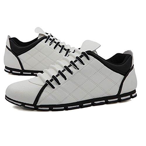 Sneaker UP Scarpe Bianca Leisure Super Scarpe Ginnastica Lace da Heel da Cricket da Uomo Flat Sports Light qO7nzAaw4O