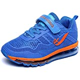 DADAWEN Boy's Athletic Mesh Air Max Velcro Strap Casual Sneaker Running Shoes