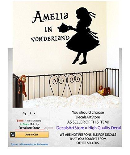 Alice copos de nieve personalizado con nombre personalizado calcomanías de pared para habitación del bebé niña cinta...