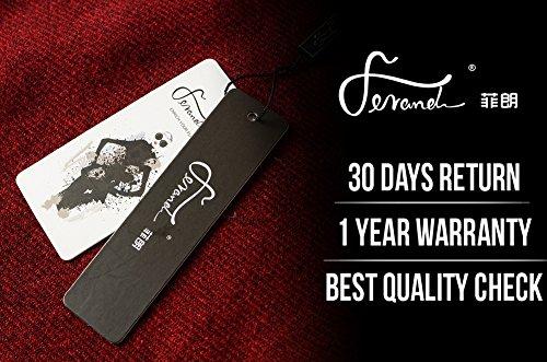 Bordeaux Donna Spesso Stile Davanti Poncho Ferand Grande per Scialle Caldo Aperto Mantella Elegante Inverno 6 wa6q70P4